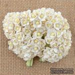 Цветочки  Sweetheart, белый, 10мм, 10 шт. - ScrapUA.com