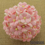 Цветочки любви - sweetheart, цвет светлый розовый, диаметр - 15мм, 10 шт. - ScrapUA.com