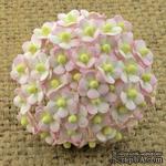 Цветочки Sweetheart, бело-розовый, 10мм, 10 шт. - ScrapUA.com