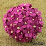 Цветочки  Sweetheart, цвет фуксия, 15мм, 10 шт. - ScrapUA.com