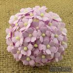 Цветочки любви - sweetheart, цвет сиреневый, диаметр - 15мм, 10 шт. - ScrapUA.com