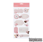 Наклейки от American Crafts - Pebbles Stickers - New Addition Girl - Dimensional Phrases & Icons - ScrapUA.com