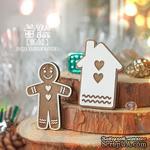 Деревянная фишка ScrapBox - Деревянная фишка пряничный человечек с домиком Fl-015 - ScrapUA.com