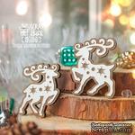 Деревянная фишка ScrapBox - Два оленя со звездами Fl-016 - ScrapUA.com