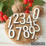 Деревянные фишки ScrapBox - Набор цифр (65 шт) Fl-018 - ScrapUA.com
