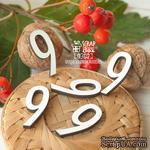 Деревянные фишки ScrapBox - Набор цифр 9 (5шт) Fl-027 - ScrapUA.com
