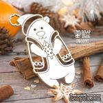 Чипборд ScrapBox - Мишка в жилетке с елкой Hc-074 - ScrapUA.com