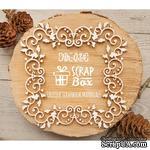Чипборд ScrapBox - Ажурная новогодняя рамка с остролистом Hh-034 - ScrapUA.com