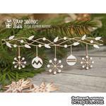 Чипборд ScrapBox - Новогодняя гирлянда со снежинками Hh-084 - ScrapUA.com