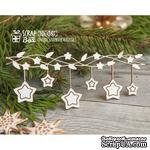 Чипборд ScrapBox - Новогодняя гирлянда со звездочками Hh-085 - ScrapUA.com
