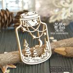 Чипборд ScrapBox - Новогодняя композиция в банке Hh-149 - ScrapUA.com