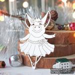 Чипборд ScrapBox - Свинка балерина с разведенными руками Hh-177 - ScrapUA.com