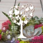 Чипборд ScrapBox - Дерево с сердечками Hh-180 - ScrapUA.com