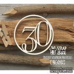 Чипборд ScrapBox - Цифра 30 - ScrapUA.com