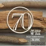 Чипборд ScrapBox - Цифра 70 - ScrapUA.com