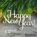 Чипборд ScrapBox - Надпись Happy New Year Hi-205 - ScrapUA.com