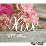 Чипборд ScrapBox - надпись Love с сердечком Hi-212 - ScrapUA.com