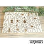 Чипборд ScrapBox - Набор чисел для рождественского календаря (advent calendar) Hi-320 - ScrapUA.com