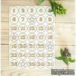 Чипборд ScrapBox - Набор чисел для рождественского календаря (advent calendar) Hi-323 - ScrapUA.com
