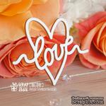 Чипборд ScrapBox - Надпись Love в сердечке Hi-341 - ScrapUA.com