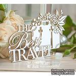 """Чипборд ScrapBox - Надпись """"The Best Travel"""" с чемоданом Hi-357 - ScrapUA.com"""