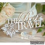 "Чипборд ScrapBox - Надпись ""The Best Travel"" с цветами Hi-358 - ScrapUA.com"