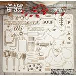 Чипборд ScrapBox - Кухонный набор большой - ScrapUA.com