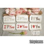 Чипборд ScrapBox - Для вышивки билетики I Love You - ScrapUA.com