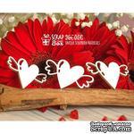 Чипборд ScrapBox - Сердечки с крылышками (3шт) Hm-054 - ScrapUA.com