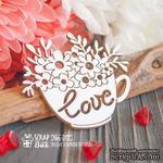 Чипборд ScrapBox - Чашка с цветами Love Hm-077 - ScrapUA.com
