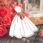 Чипборд ScrapBox - свадебное платье с бантом Hm-082 - ScrapUA.com