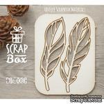 Чипборд ScrapBox - Набор Птичьи перья №3 - ScrapUA.com