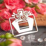 Чипборд ScrapBox - флакон духов маленький с розами Ho-152 - ScrapUA.com