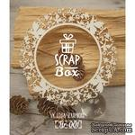 Чипборд ScrapBox - Рамка круглая Цветочная с бабочками - ScrapUA.com