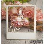 Чипборд ScrapBox - Слайд с надписью Love - ScrapUA.com