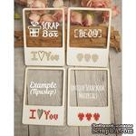 Чипборд ScrapBox - Для вышивки слайды Love №2 - ScrapUA.com