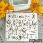 Чипборд ScrapBox - музыкальный набор Ноты Ht-041 - ScrapUA.com