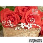 Чипборд Scrapbox - Цветочная ветка бордюр с завитками Hw-016 - ScrapUA.com