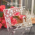 Чипборд ScrapBox - уголки с птичкой и цветами 2шт Hw-065 - ScrapUA.com
