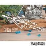 Чипборд ScrapBox - геометрический бордюр треугольник со стрелками №2 Hw-068 - ScrapUA.com