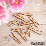 Чипборд ScrapBox - Набор деревянніх прищепок 10шт Wfo-039 - ScrapUA.com