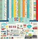 """Набор бумаги от Echo Park """"Scoot"""", 30x30, 12 листов - ScrapUA.com"""