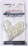 """Жемчужные половинки сердца от ScrapBerry's """"Перламутровые"""", 6-8 мм, 60 шт. - ScrapUA.com"""