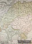 "Ткань на клеевой основе от ScrapBerry`s ""Карта"", 23,8х32 см - ScrapUA.com"