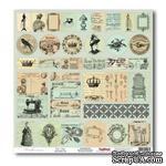 Лист бумаги для скрапбукинга  от ScrapBerry's - Версаль - Карточки Монетный двой - ScrapUA.com
