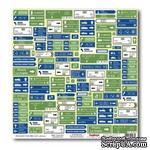Лист бумаги для скрапбукинга  от ScrapBerry's - Вокруг Света - Новые маршруты - ScrapUA.com