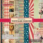 Набор бумаги для скрапбукинга от ScrapBerry's - Старый цирк, 15 х 15 см, 24 листа - ScrapUA.com
