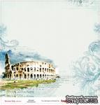 Лист бумаги для скрапбукинга от ScrapBerry's - Итальянские каникулы - Колизей, 30,5 х 30,5 см - ScrapUA.com