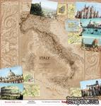 Лист бумаги для скрапбукинга от ScrapBerry's - Итальянские каникулы - Путеводитель, 30,5 х 30,5 см - ScrapUA.com