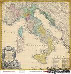 Лист бумаги для скрапбукинга от ScrapBerry's - Итальянские каникулы - Италия, 30,5 х 30,5 см - ScrapUA.com